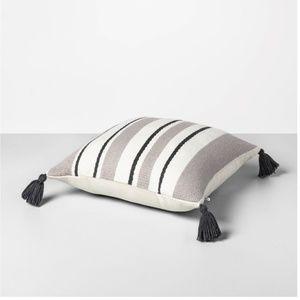 "Hearth & Hand Outdoor Stripe Square Pillow 18"""